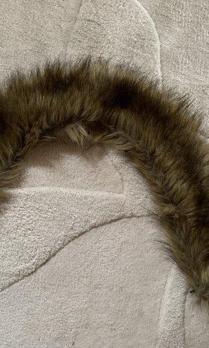 Écharpe ronde marron clair-gris brun