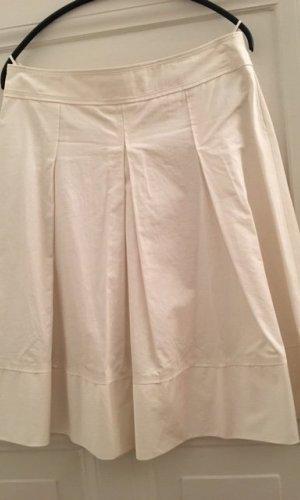 Hugo Boss Jupe à plis blanc-blanc cassé coton