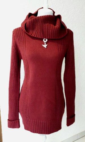 Sweaterjurk roodbruin