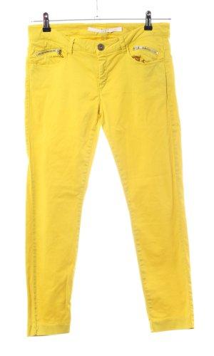 Schumacher Pantalón elástico amarillo pálido look casual