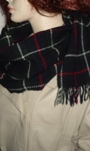Écharpe à capuche multicolore laine
