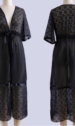 Lange blazer zwart