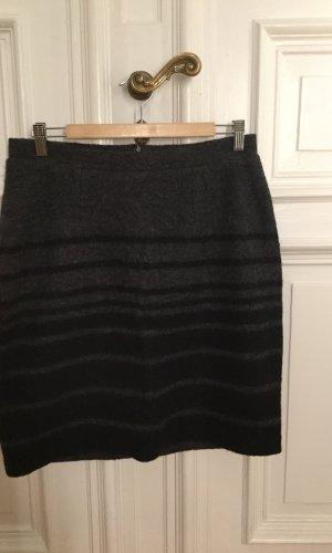 Clements Ribeiro Wollen rok zwart-donkergrijs
