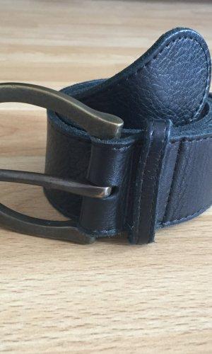 Schwarz# Gürtel # echte Leder- halluber