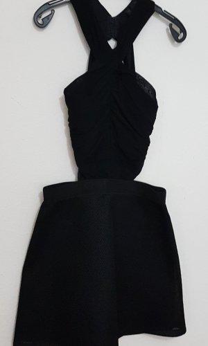 Topshop Cut Out Dress black