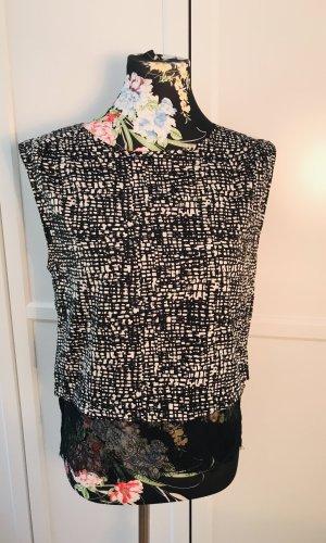 Vero Moda Kanten topje zwart-wit