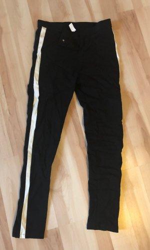 SheIn Pantalón elástico blanco-negro