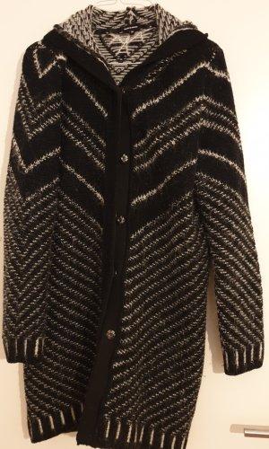 schwarz weiße Strickjacke More&More