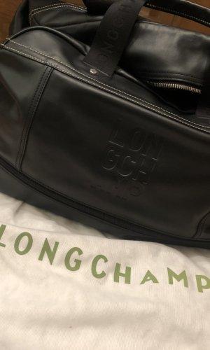 Longchamp Bolso de viaje negro Cuero