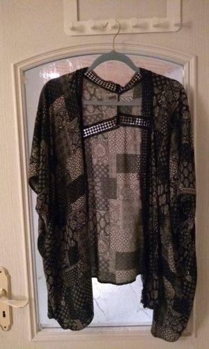 New Look Kimono blanco-negro