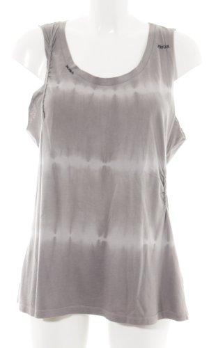 Set Basic Top hellgrau-weiß Farbverlauf Casual-Look