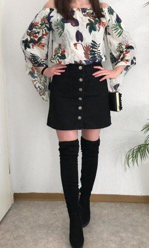 Sheinside Lange blouse veelkleurig