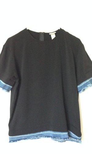 Shirt mit Jeans-Details
