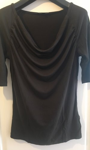 More & More Waterval shirt donkerbruin