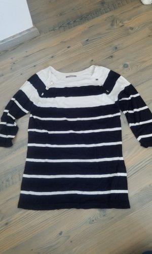 Orsay Sweater met korte mouwen wit-blauw