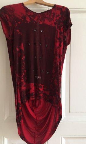 Religion Waterval shirt donkerrood-zwart