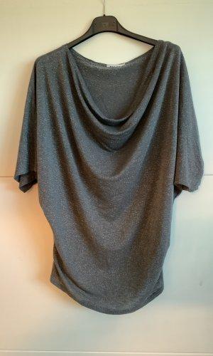 Made in Italy Waterval shirt zilver-grijs Katoen