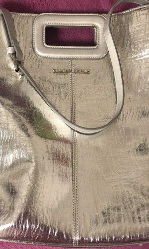 Silvian heach Fringed Bag silver-colored