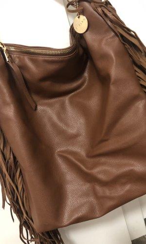Sisley Fringed Bag brown