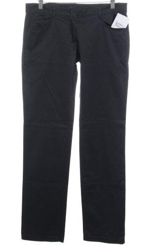 Sisley Stoffhose schwarz schlichter Stil