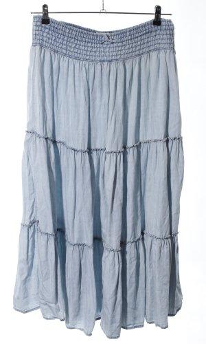 Volanten rok blauw casual uitstraling
