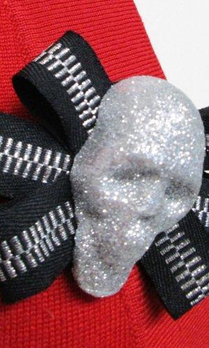 Botón negro-color plata tejido mezclado