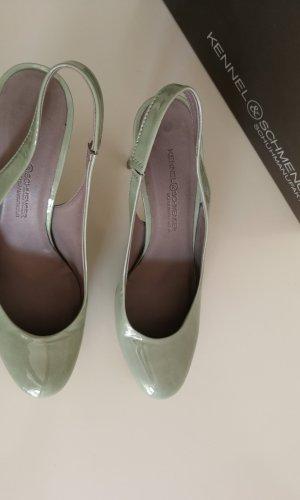 Kennel und Schmenger Escarpin à bride arrière gris vert
