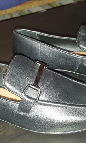 Slipper Leder schwarz 39
