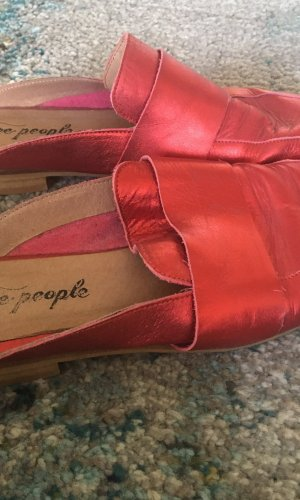 Free People Moccasins red