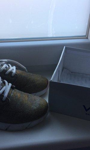 291 Venice Shoes gold-colored-white textile fiber