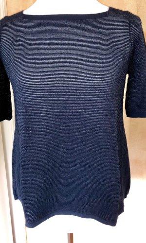 D. Exterior Sweater met korte mouwen donkerblauw