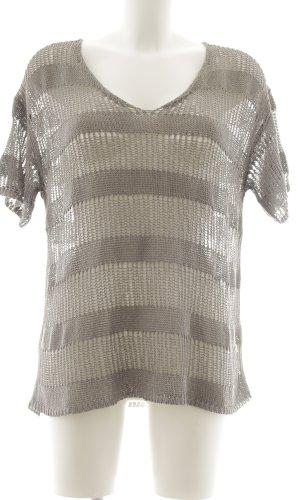 Soyaconcept Gehaakt shirt lichtgrijs losjes gebreid patroon casual uitstraling