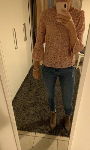 Zara Gehaakt shirt roze-rosé