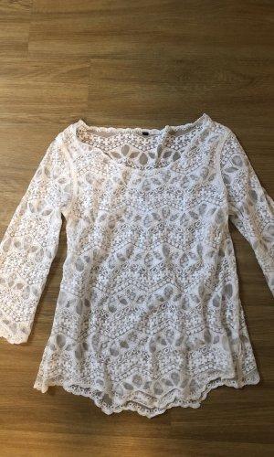 H&M Gehaakt shirt wit-room
