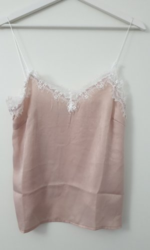 Kanten topje stoffig roze