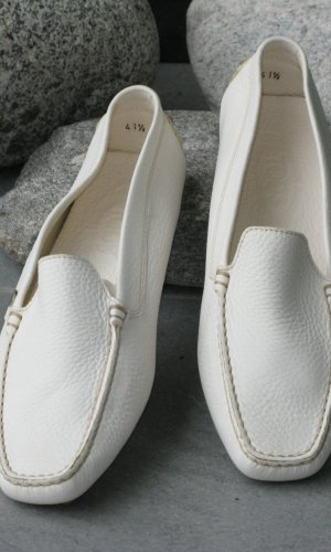 Tod's Moccasins natural white-cream leather
