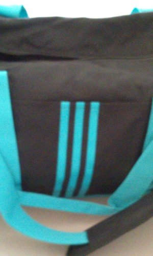 Adidas Sports Bag black-turquoise synthetic material