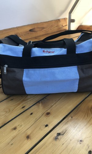 Sports Bag grey brown-azure