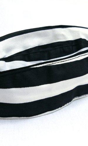 Stoffen muts wit-zwart