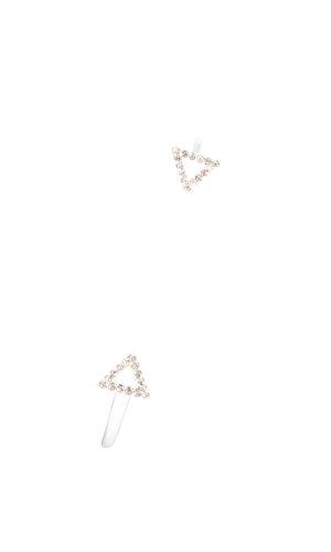 Stella & Dot Brazalete color plata estilo minimalista