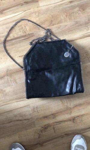 Stella McCartney Tasche   Original   Silber   schwarz   Blogger   Falabella