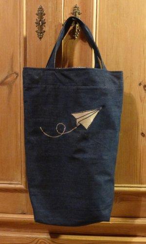 Bolsa de arpillera azul oscuro Algodón