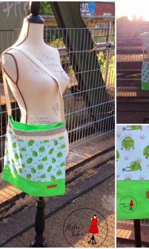 Bolsa de arpillera verde claro-verde