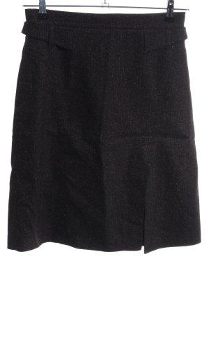 Strenesse Blue Wollen rok zwart-bruin volledige print casual uitstraling