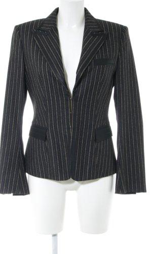 Strenesse Gabriele Strehle Wollen blazer zwart gestreept patroon zakelijke stijl