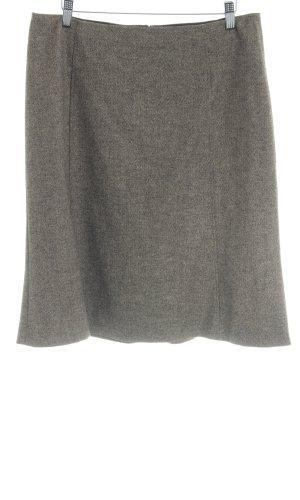 Strenesse Wollen rok beige-zwart zigzag patroon elegant
