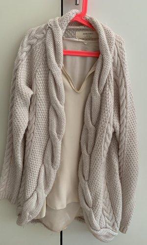 Zara Knit Chaleco de punto largo rosa