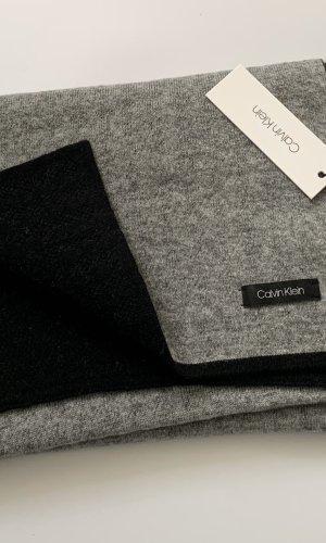 Calvin Klein Jeans Bufanda de punto gris claro-negro