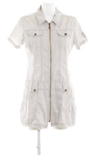 Sublevel Robe chemise blanc style décontracté
