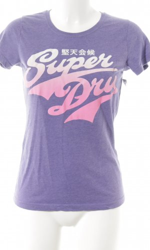 Superdry T-Shirt abstrakter Druck Casual-Look